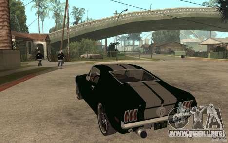 Ford Mustang TOKYO DRIFT para GTA San Andreas vista posterior izquierda