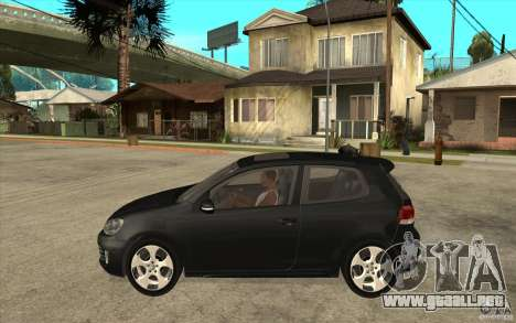 VW Golf 6 GTI para GTA San Andreas left