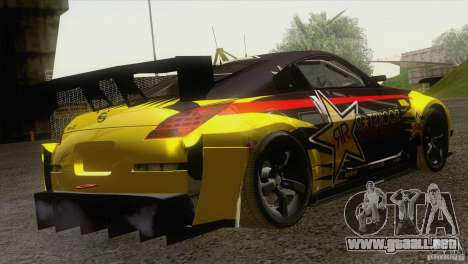 Nissan 350Z Rockstar para la visión correcta GTA San Andreas