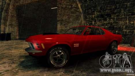 Ford Mustang BOSS 429 para GTA 4 vista hacia atrás