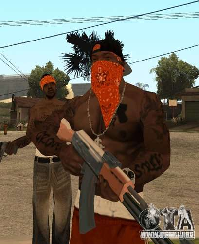 Bandas de reemplazo, tatuajes, ropa, etc.. para GTA San Andreas