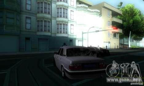 GAZ 31105 Volga abogado para GTA San Andreas vista hacia atrás