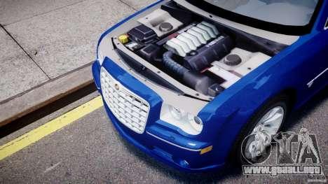 Chrysler 300C SRT8 Tuning para GTA 4 vista hacia atrás