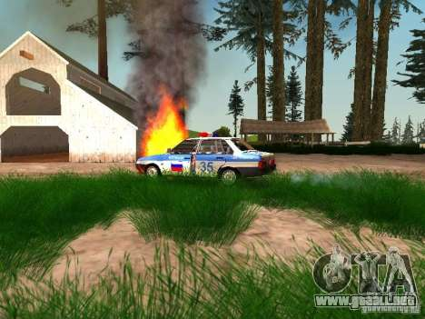 VAZ 2109 policía para vista lateral GTA San Andreas