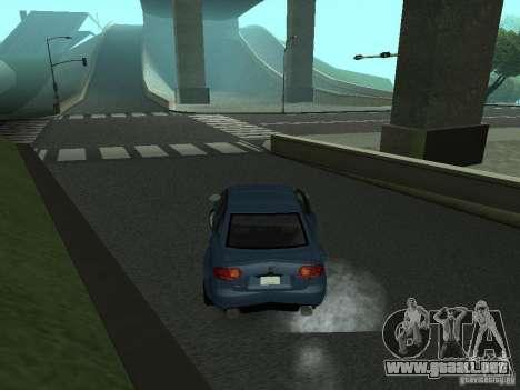 Audi RS4 para GTA San Andreas vista posterior izquierda