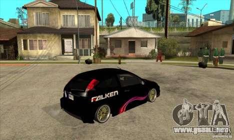 Ford Focus SVT para la visión correcta GTA San Andreas