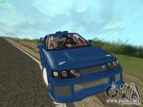 VAZ 2110 ADT Tuning para GTA San Andreas vista hacia atrás