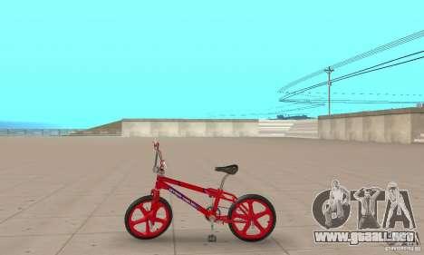 New BMX para GTA San Andreas vista posterior izquierda