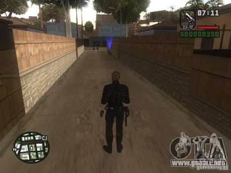 Wesker de RE5 para GTA San Andreas quinta pantalla