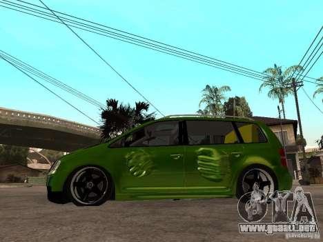 Volkswagen Touran The Hulk para GTA San Andreas left