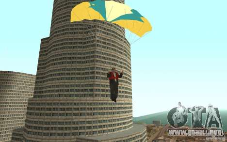 Global fashion parachute para GTA San Andreas quinta pantalla
