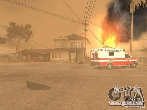 Terremoto para GTA San Andreas segunda pantalla