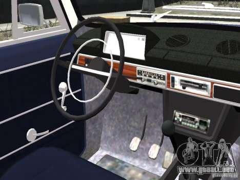 VAZ 2101 para GTA 4 vista hacia atrás