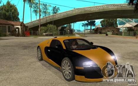 Bugatti Veyron v1.0 para GTA San Andreas vista hacia atrás