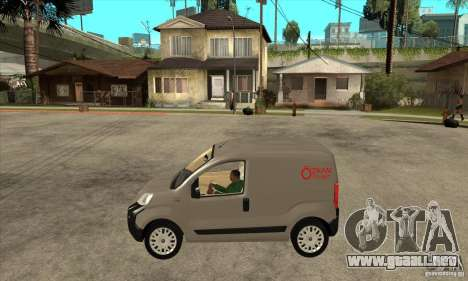Citroen Nemo 2010 para GTA San Andreas left