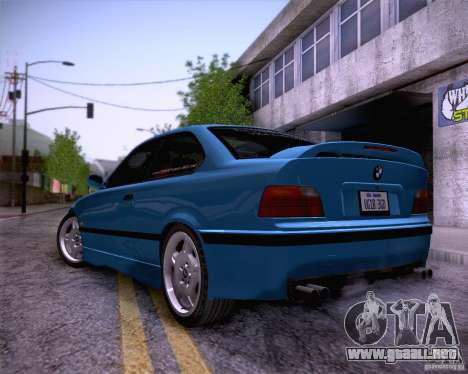 BMW M3 E36 1995 para vista inferior GTA San Andreas