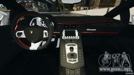 Lamborghini Aventador LP700-4 2012 para GTA 4 vista hacia atrás