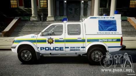 Nissan Frontier Essex Police Unit para GTA 4 left