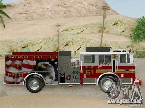 Seagrave Marauder. F.D.N.Y. Squad 61. para el motor de GTA San Andreas