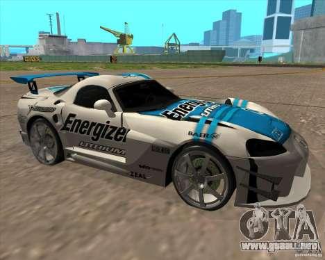 Dodge Viper Energizer para GTA San Andreas left