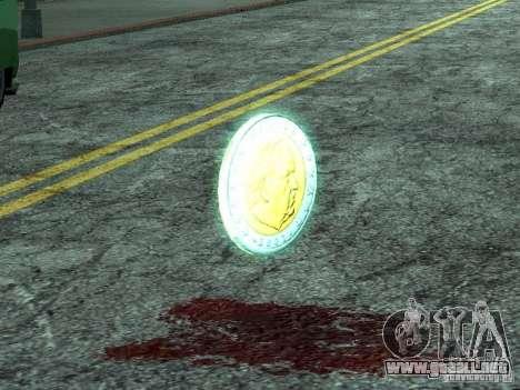 Monedas de euro para GTA San Andreas segunda pantalla
