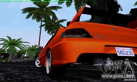 Mitsubishi Lancer Evolution IX 2006 para la visión correcta GTA San Andreas