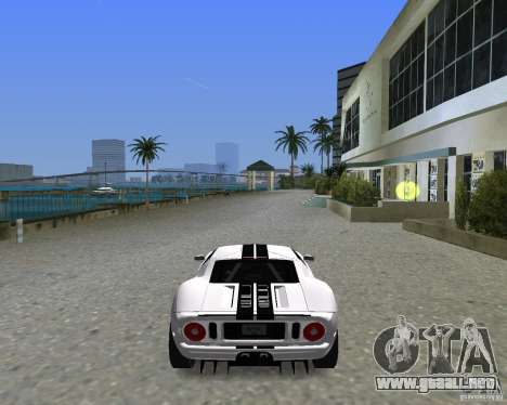 Ford GT para GTA Vice City vista lateral izquierdo
