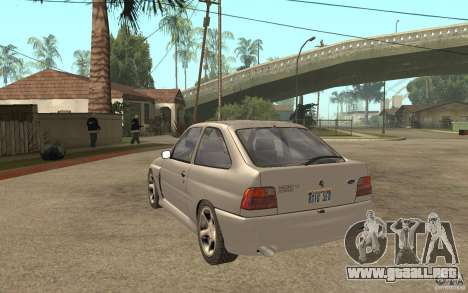 Ford Escort RS Cosworth 1992 para GTA San Andreas vista posterior izquierda