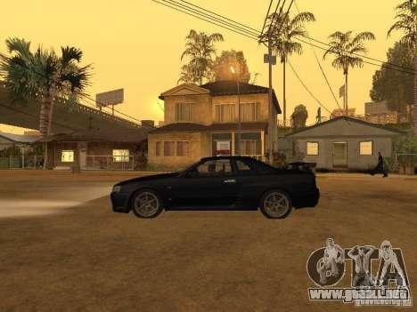 Nissan Skyline R34 Police para GTA San Andreas left