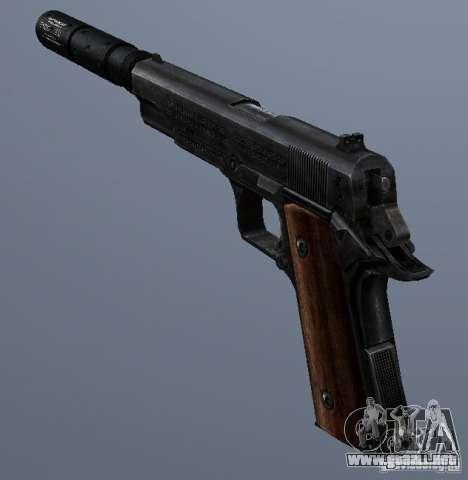 SilencedM1911 para GTA San Andreas segunda pantalla