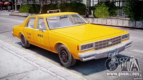 Chevrolet Impala Taxi 1983 para GTA 4 left