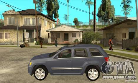 Jeep Grand Cherokee SRT8 v2.0 para GTA San Andreas left