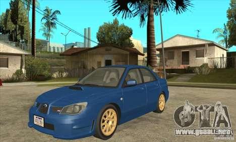 Subaru Impreza WRX STI 2006 para GTA San Andreas left