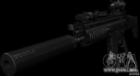 SCAR-L black para GTA San Andreas segunda pantalla