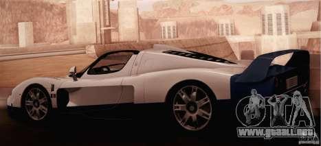 Maserati MC12 V1.0 para visión interna GTA San Andreas