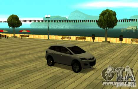 Mazda CX7 para GTA San Andreas vista hacia atrás