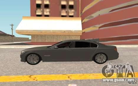 BMW 730d para GTA San Andreas vista hacia atrás