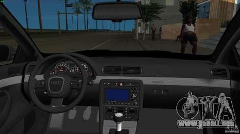 Audi RS4 para GTA Vice City vista interior