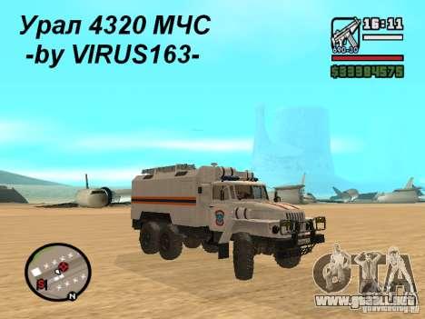Ural 4320 MOE para visión interna GTA San Andreas
