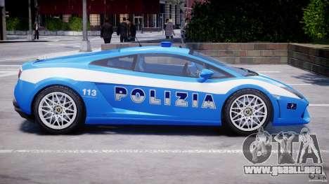 Lamborghini Gallardo LP560-4 Polizia para GTA 4 vista desde abajo