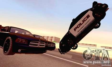 Dodge Charger Fast Five para vista inferior GTA San Andreas