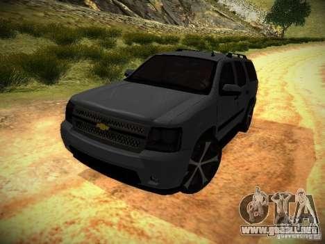 Chevrolet Tahoe HD Rimz para GTA San Andreas vista posterior izquierda