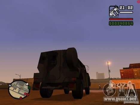 Australian Bushmaster para GTA San Andreas vista posterior izquierda