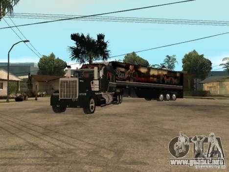 Custom Kenworth w900 - Custom - Trailer para la visión correcta GTA San Andreas