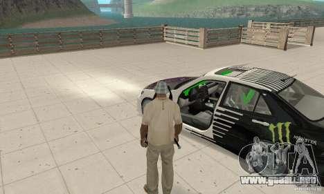 Lexus IS300 Drift Style para GTA San Andreas vista hacia atrás