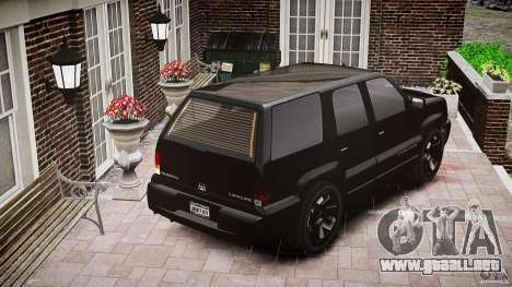Cavalcade FBI car para GTA 4 vista lateral
