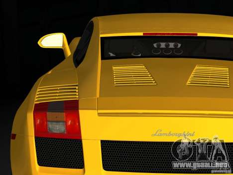 Lamborghini Gallardo para GTA Vice City vista lateral izquierdo