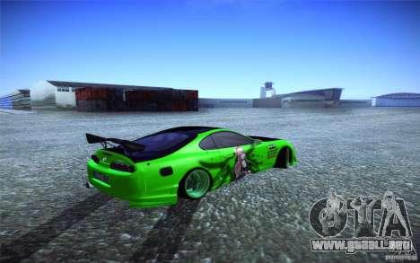 Toyota Supra Tuned para GTA San Andreas vista posterior izquierda