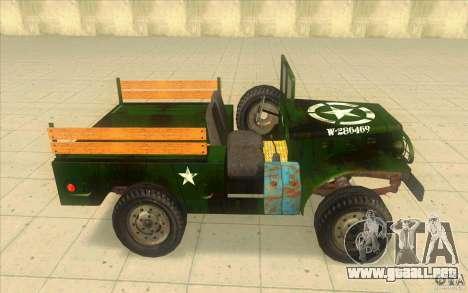 Dodge WC51 1944 para GTA San Andreas left