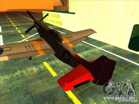 P51D Mustang Red Tails para GTA San Andreas